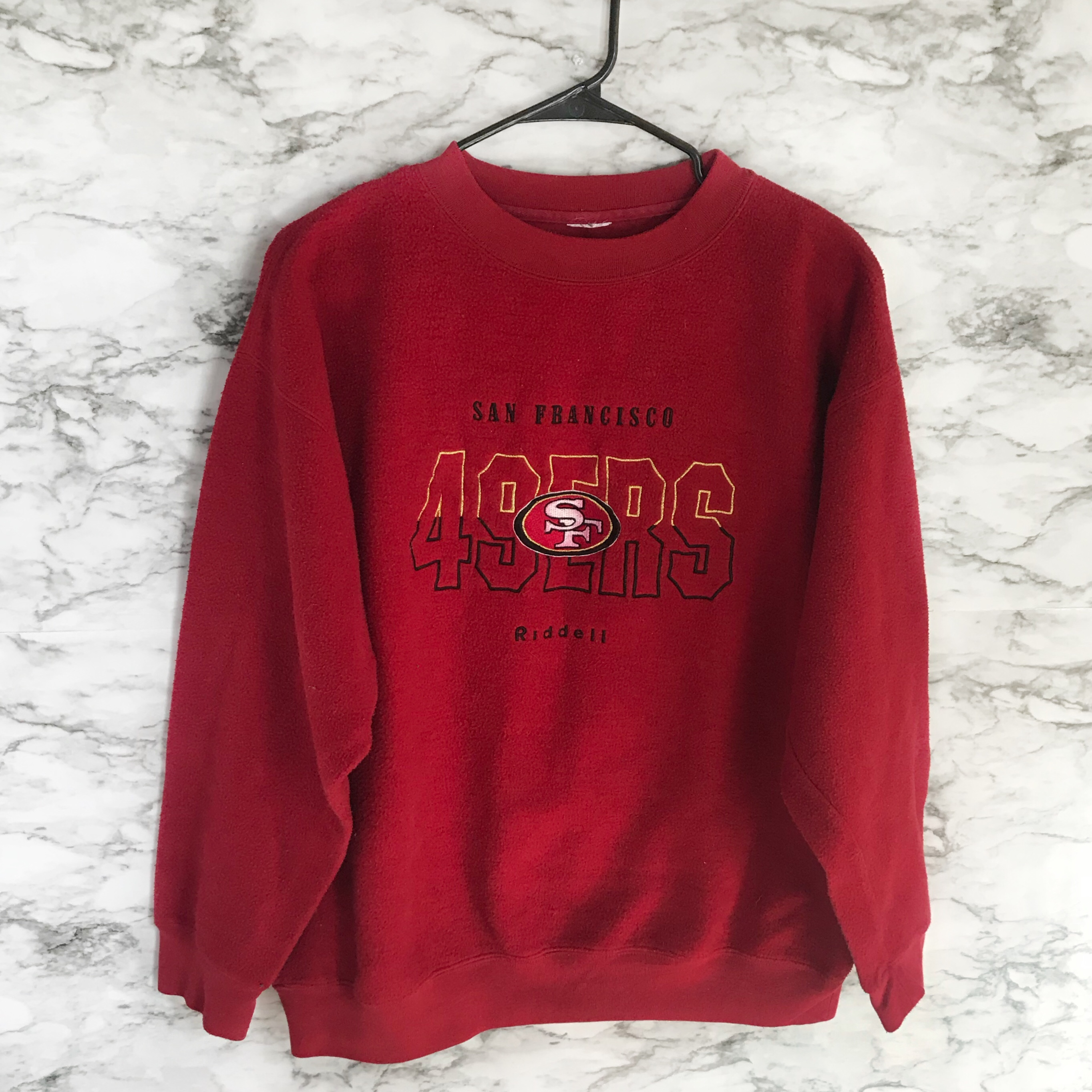 hot sale online d6aa8 5616e VINTAGE SAN FRANCISCO 49ERS SWEATER🌉🏈 In perfect... - Depop