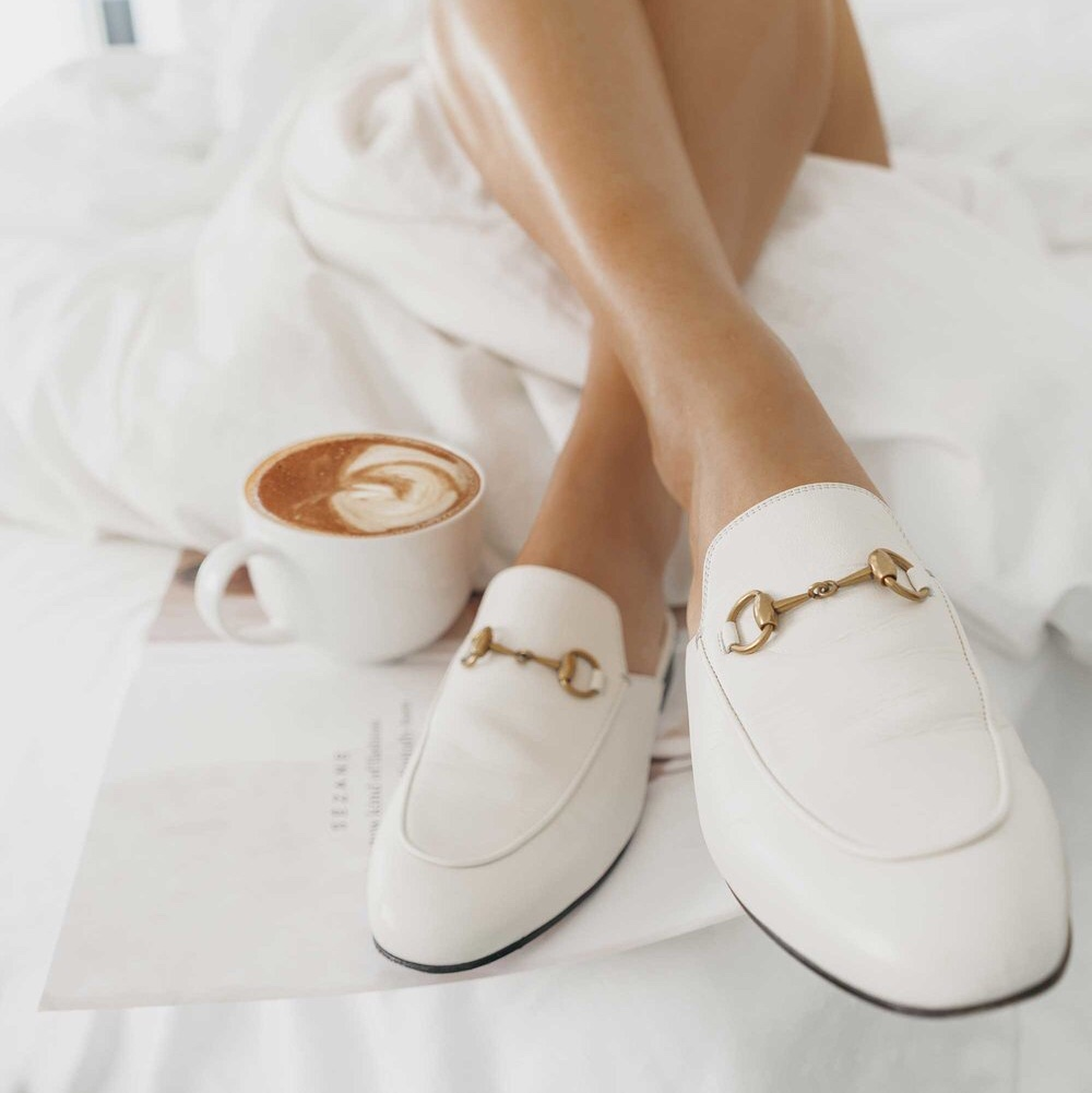 Gucci Princetown Leather Slippers in