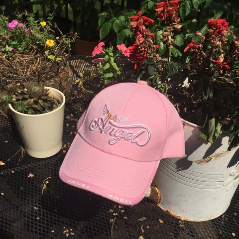 305d346540c baby pink angel hat 👼 -Y2K aesthetic -embroidered -not for - Depop