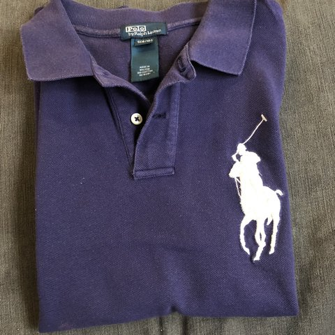 ef4154cfc PRELOVED RALPH LAUREN POLO T SHIRT. BLUE WITH A TENNIS LOGO - Depop