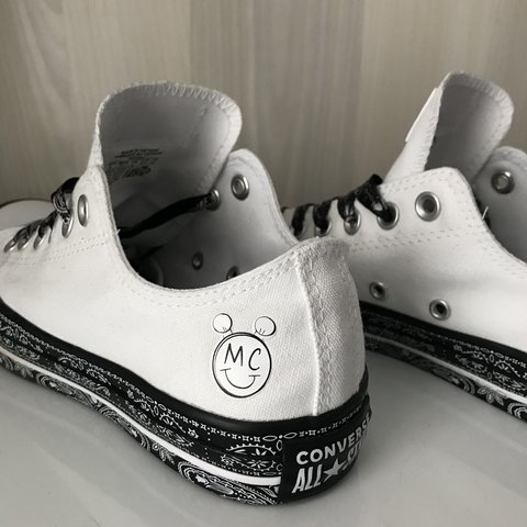 9ba970020e2a Converse X Miley Cyrus Chuck Taylor All Star Low Trainers In - Depop