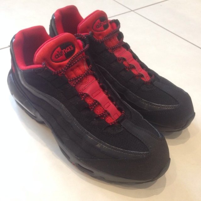 bc7cf05b39 ... usa nike air max 95 red and black reflective size 9 grab a to depop  8d04a