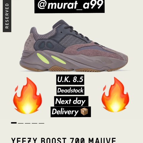 7e76ca89e Listed on Depop by murat a99 murat a99 5 months ago London United Kingdom Adidas  YEEZY BOOST 700 Mauve ...
