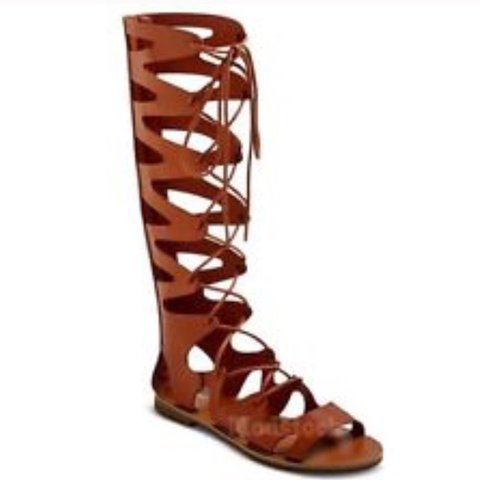 f01a1999d63 Brown gladiator sandals. Mossimo brand from target. Have - Depop