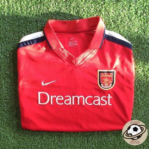ba82d678ec2 Arsenal   Dreamcast   home shirt 2000 02 Made by Nike reads - Depop