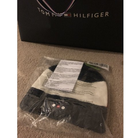 0fa108c3185b Brand  Tommy Hilfiger Item  Beanie Hat with Bluetooth Blue - Depop