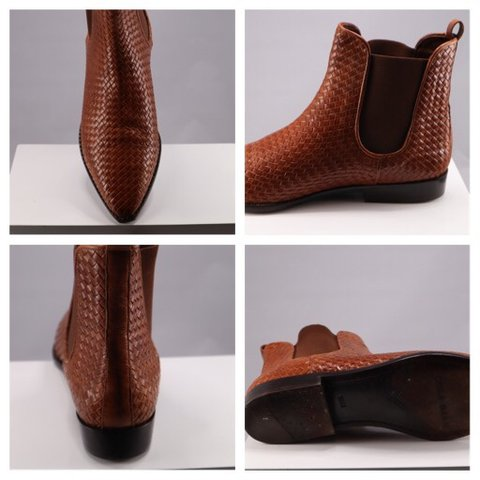 """e3191d05f078 Cole Haan Beautiful cognac woven ankle booties by """"Cole toe - Depop"""