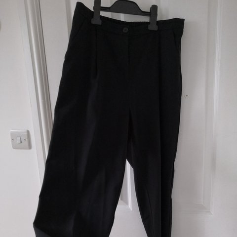 880b941bf MONKI 'dressy' trousers in black. Very good condition. back - Depop