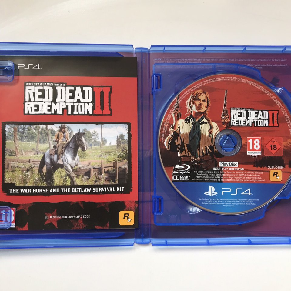 PS4 Red Dead Redemption 2 Played for a few hours on    - Depop