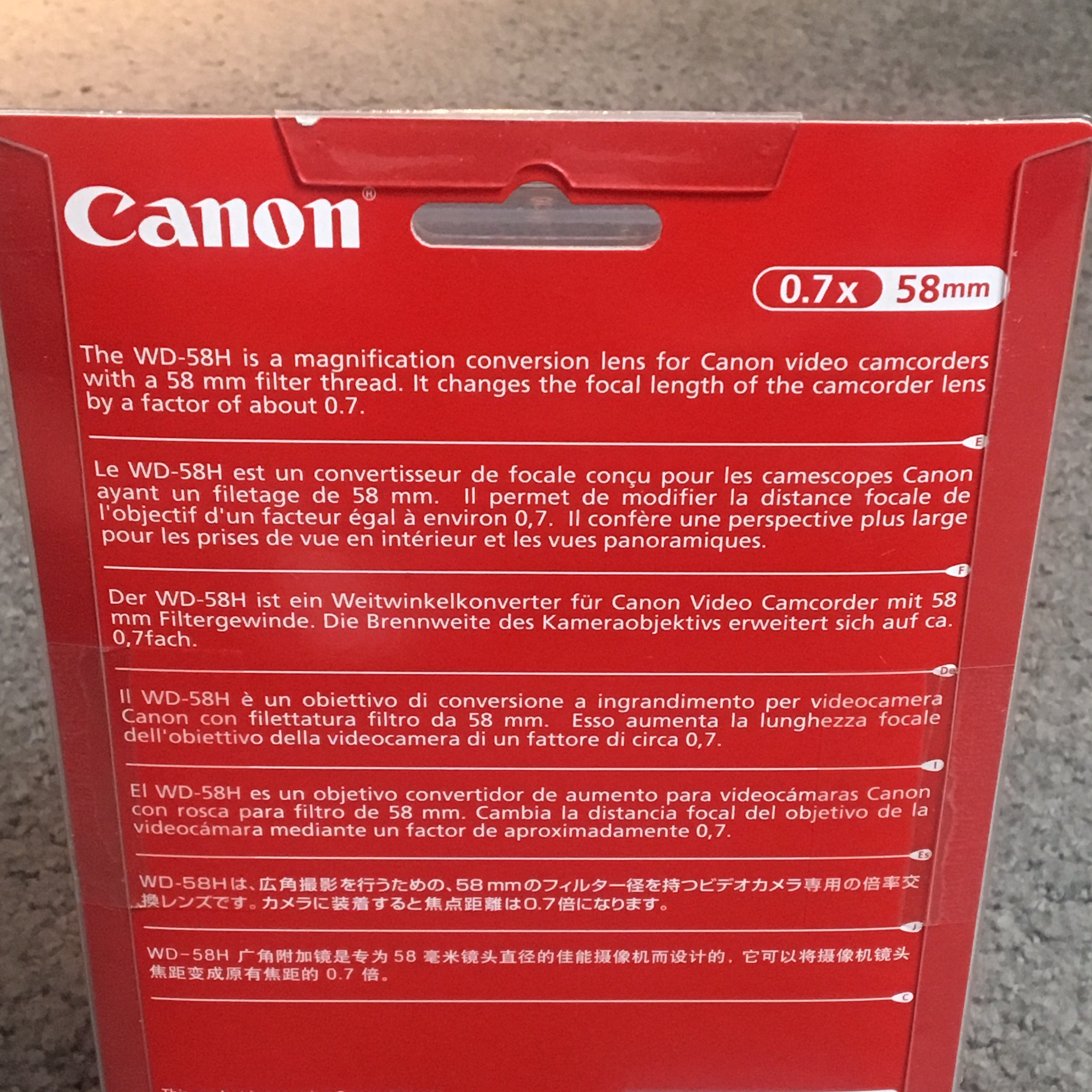 Canon Wide Converter Lens  WD-58H  Shoot images at a    - Depop