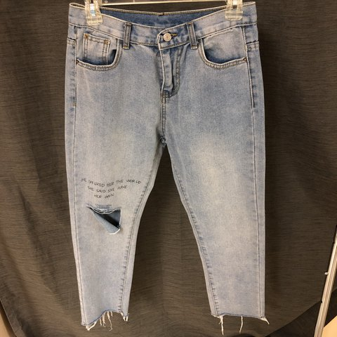"""Cute cropped jeans! """"He offered her the world She    - Depop"""
