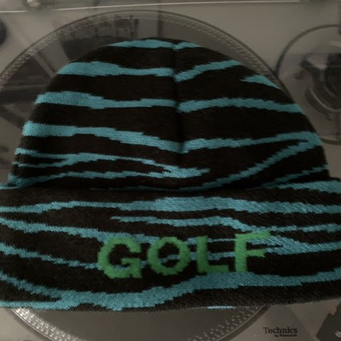 8c69923f6272 Golf wang tiger beanie in great condition - Depop
