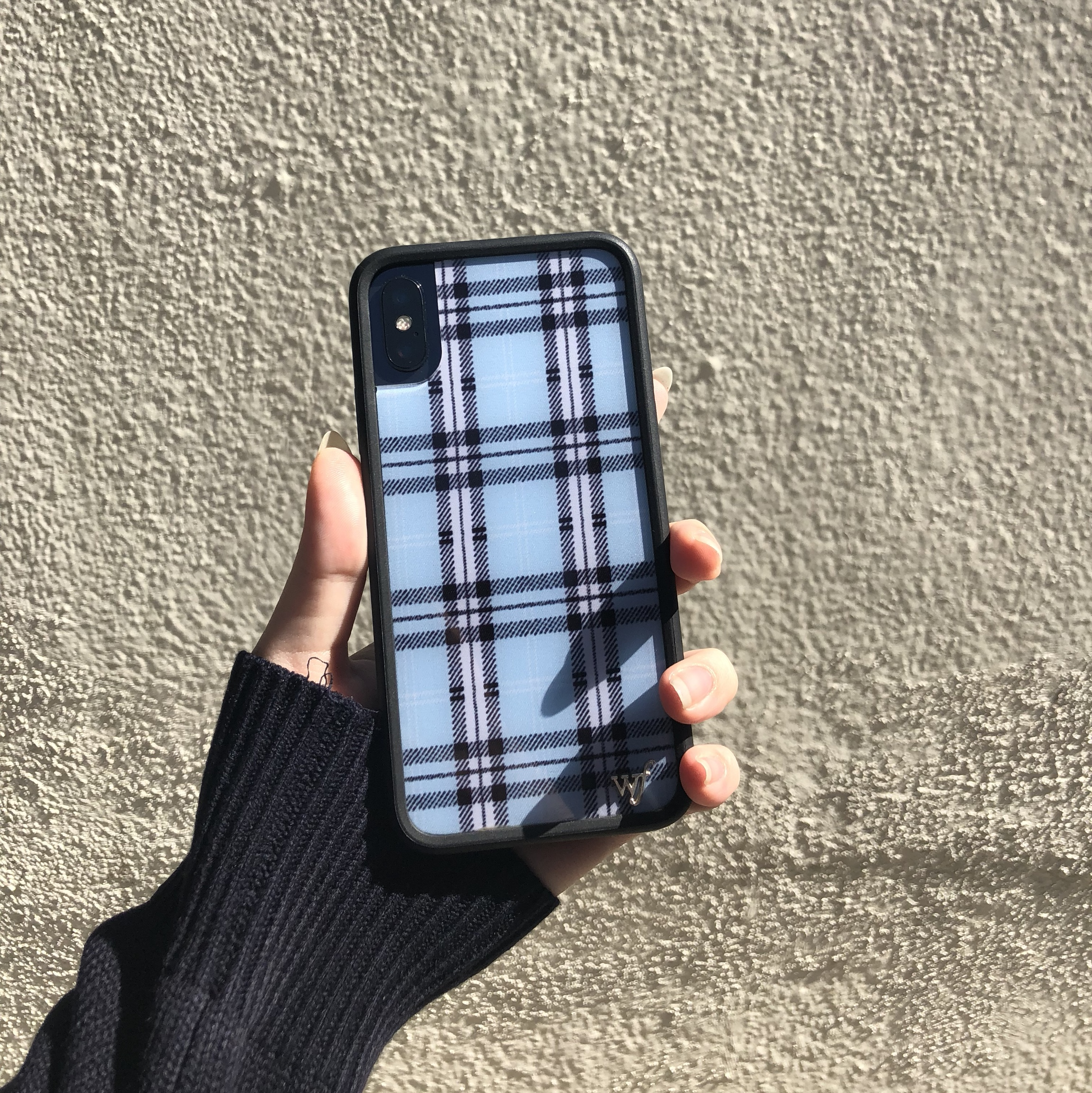 new product e2c81 9c74b 🦋💙 blue plaid wildflower iphone X case 💙🦋 would be... - Depop
