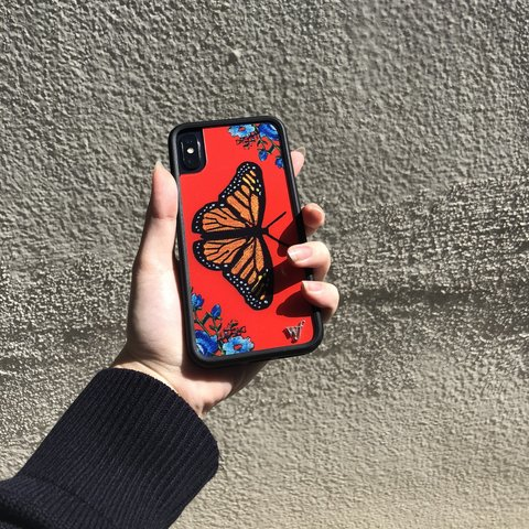 sneakers for cheap 7cd38 9b69c 🦋♥️ red butterfly iphone x wildflower case ♥️🦋 would... - Depop