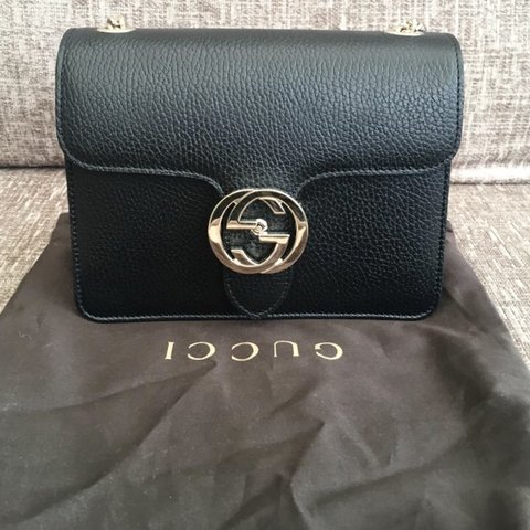 51835d0c90a4 @meenss. 2 months ago. London, United Kingdom. Stunning black Gucci Marmont  leather small chain bag!!! BRAND NEW NEVER BEEN USED ...