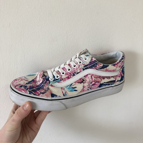 b275ef0c71b Vans Old Skool (Phalaenopsis Floral) REDUCED Worn once or to - Depop