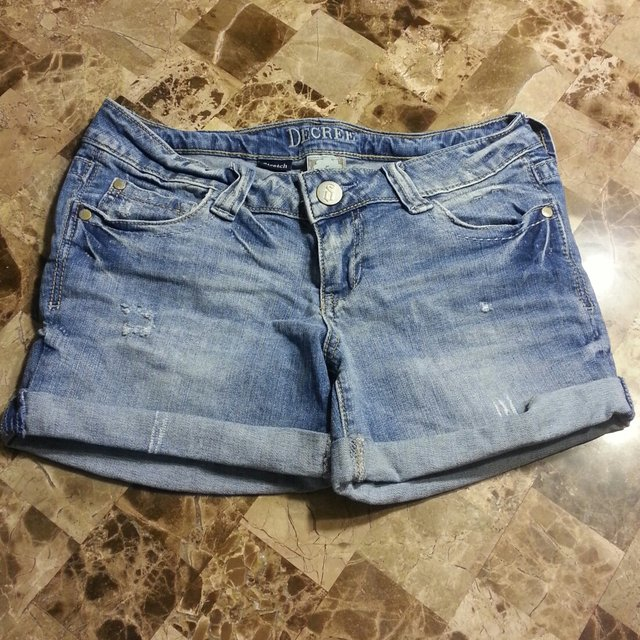 bf1cf9c486 @cassiemorgan. 5 years ago. Montgomery, Illinois, United States. Light Blue  Distressed Jean Shorts by Decree.