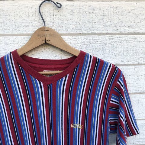 130629d6d Guess Jeans striped kids shirt. USA made with great colors a - Depop
