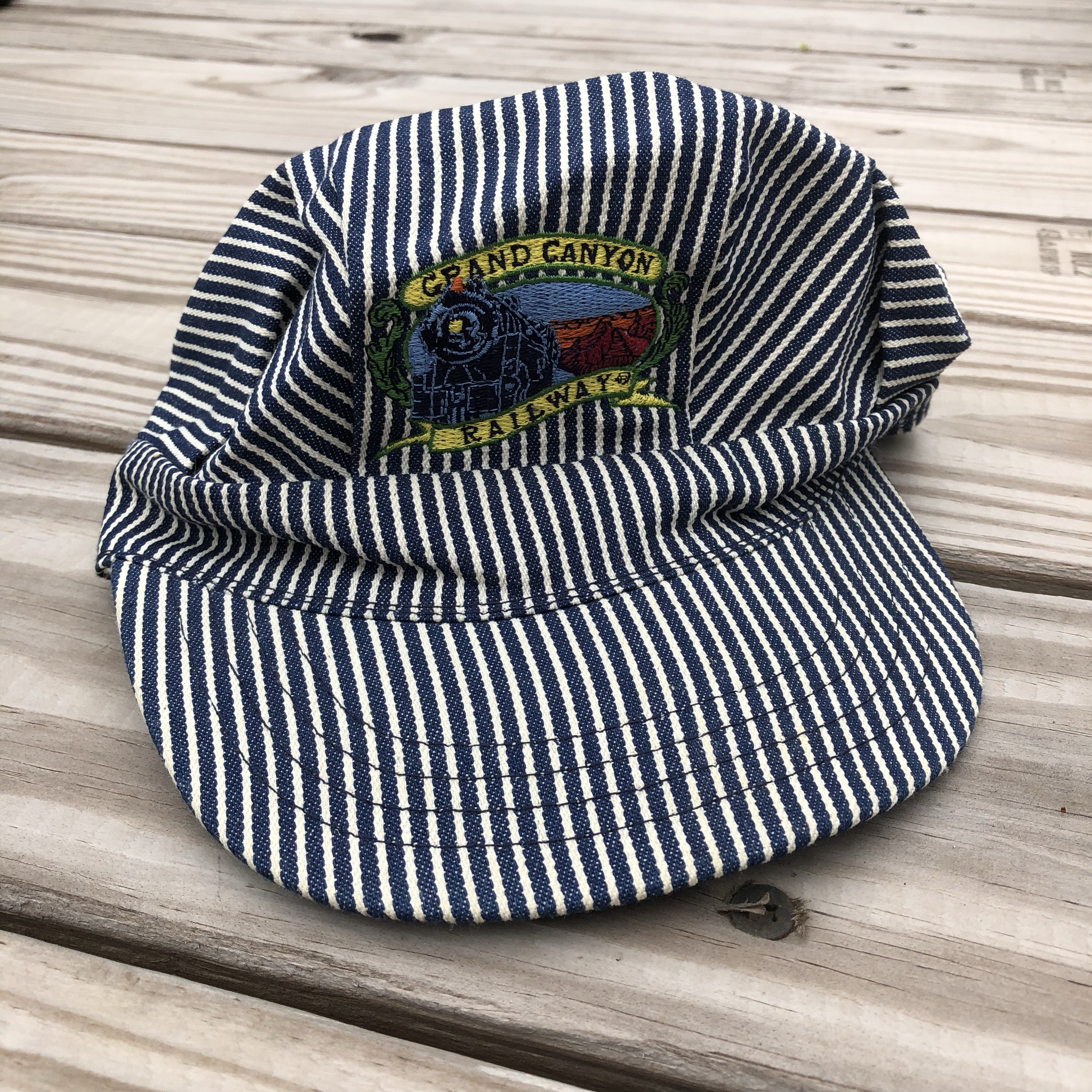 kidstablevintage. FollowingFollow. 2 months ago. United States. Grand  Canyon Railway train conductor style adjustable hat. 3d406ff49f4