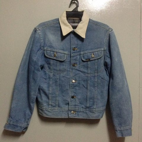 f862a881 @rasid91. last year. Malaysia. Vintage Lee Storm Rider Denim Blanket Lined  Jean Jacket size S/M Made In Usa