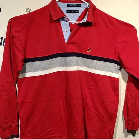 6c22fe98 @enyikelly. 11 months ago. Birmingham, United States. Vintage Tommy Hilfiger  Rugby Polo Long Sleeve