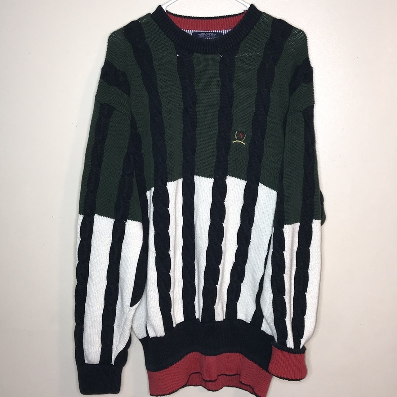 10308dbc Vintage Tommy Color Blocked Woven