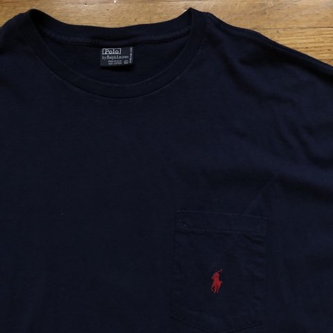 567c031f @henrybemis. 3 months ago. Omaha, United States. Vintage single stitch Polo  Ralph Lauren pocket tee, navy blue.