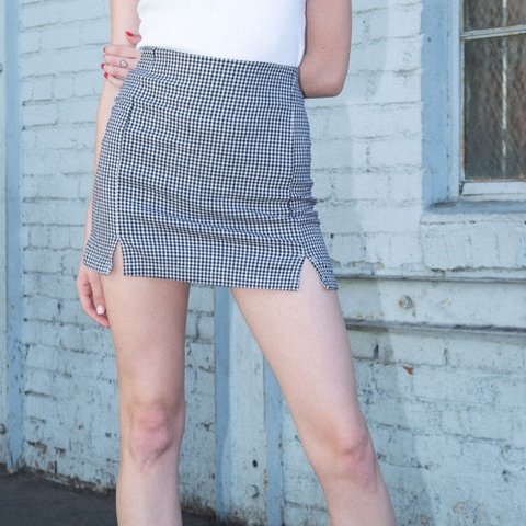 994f967d7e @emmachamberlin. 4 months ago. Oakland, United States. BRANDY MELVILLE CARA  SKIRT NWOT Black and white gingham ...