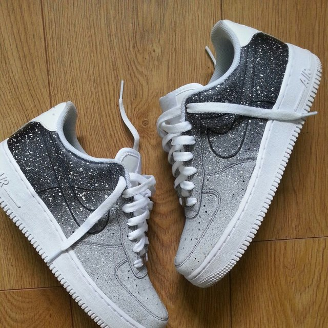 Nike Air Force 1 Black To White Fade Customised Nike Air 1