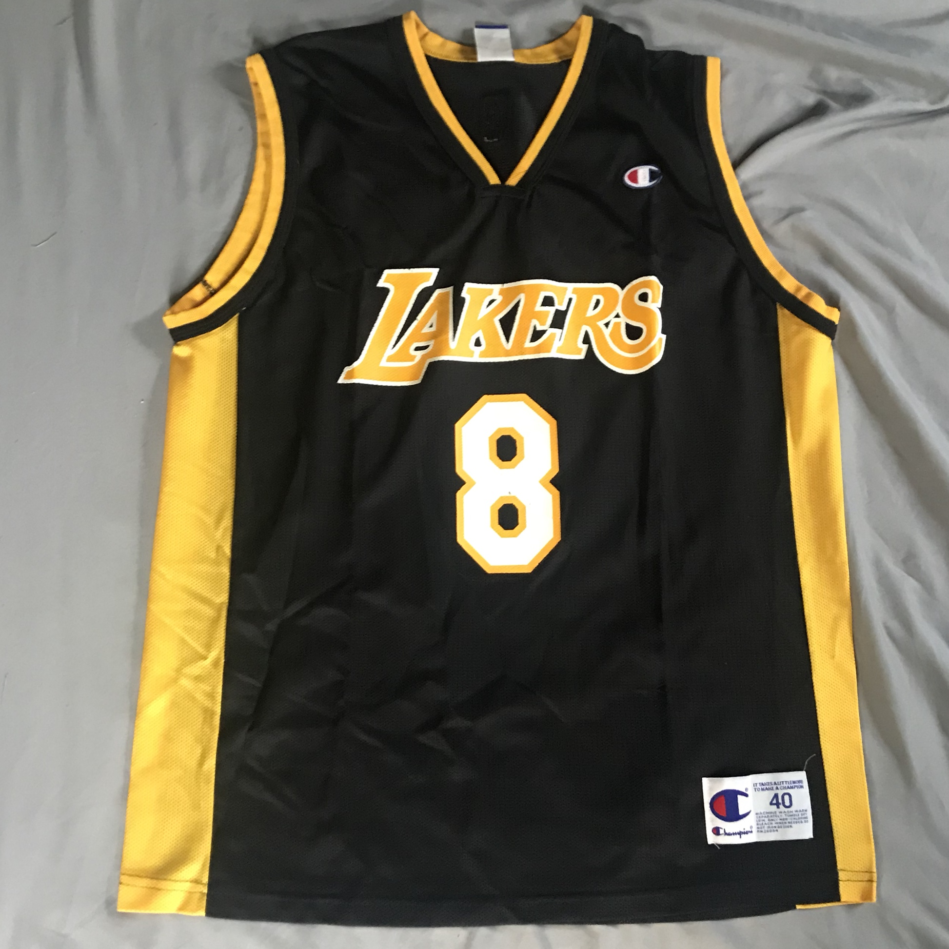 brand new e55ca ee38b LA Lakers Kobe Bryant jersey number 8 Made by... - Depop