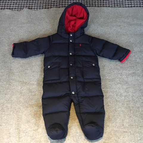4c6604860 @chas_well. 4 months ago. London, United Kingdom. Super cosy Ralph Lauren  polo baby snowsuit