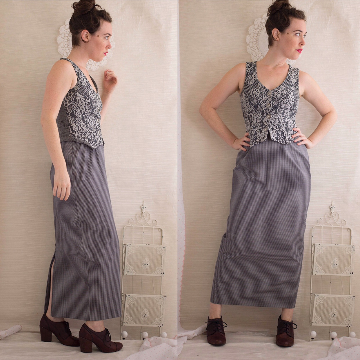 Vintage 1970s Menswear Style Maxi Length Pencil Depop