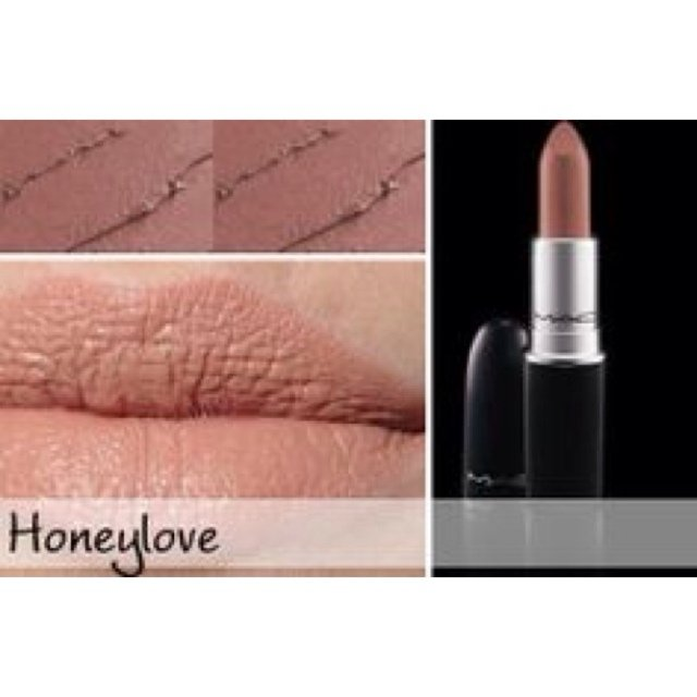 Amato MAC COSMETICS MATTE HONEYLOVE LIPSTICK! Only used once to swatch  GN44