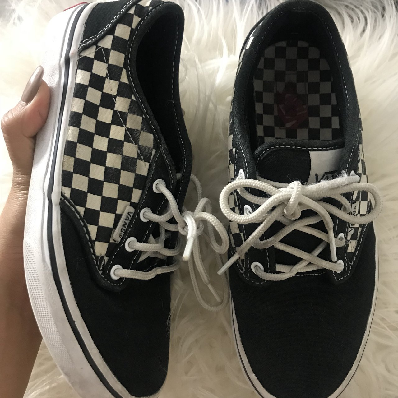 9cee539ed23aee VANS Classic Checkerboard Shoes🏁♧ ♤ 👟 -Youth Size 4 -Fits - Depop