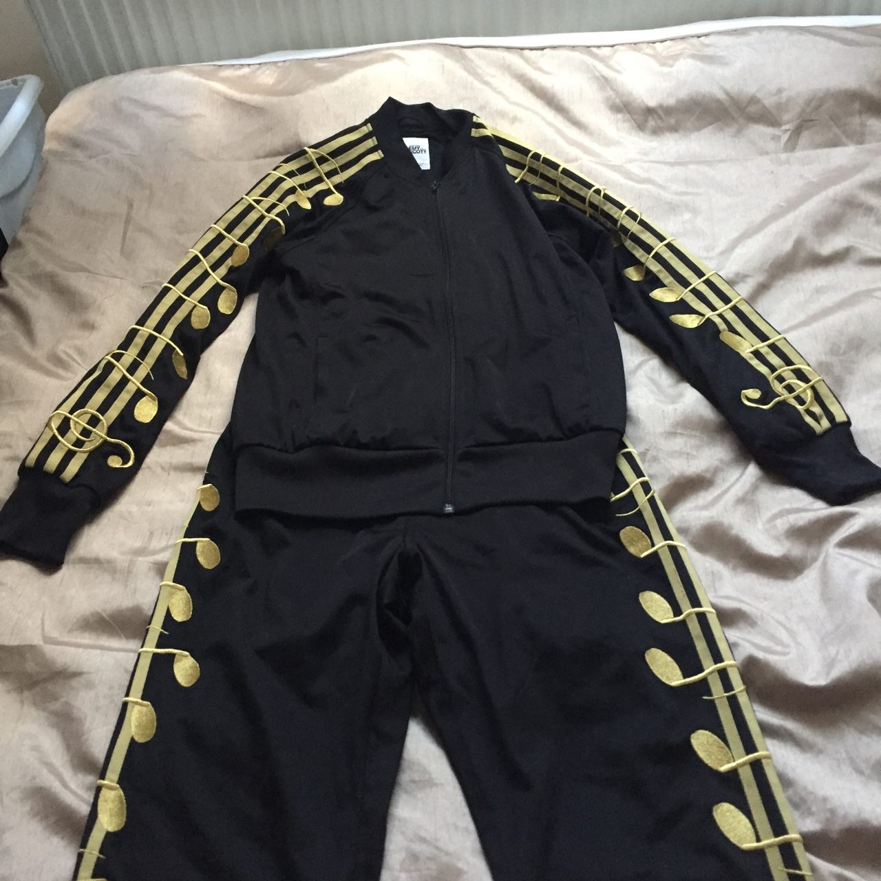 adidas Music Note TJ Jeremy Scott Gold Black Track Top