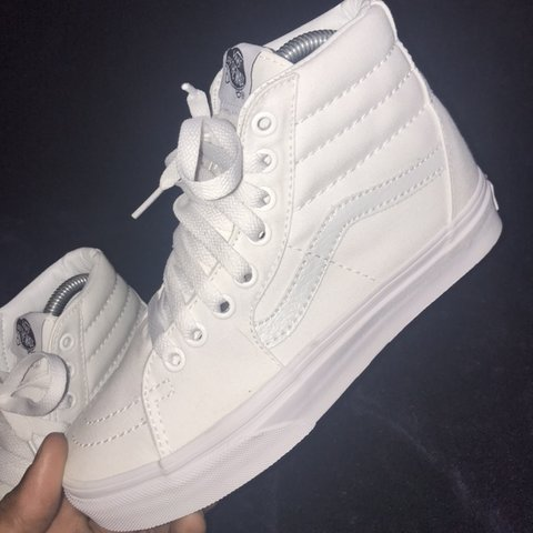 4baabd94f5 ALL WHITE Old Skool Hi-Top Vans BRAND NEW