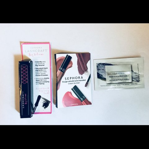 85665bdcf19 @wilddasia. last year. Warwick, United States. NWT Sephora Lashcraft Mascara  + Bonus Samples - Travel Size Lashcraft Big Volume Mascara in Noir