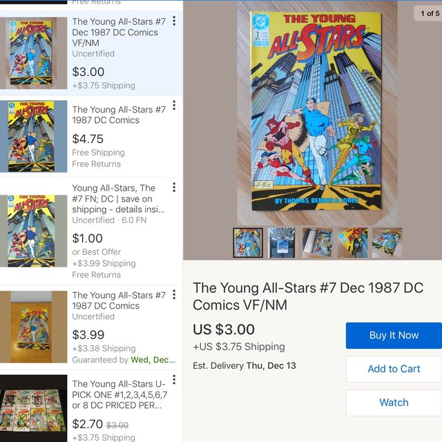 The Young All-Stars #7 1987 DC Comics The Young    - Depop