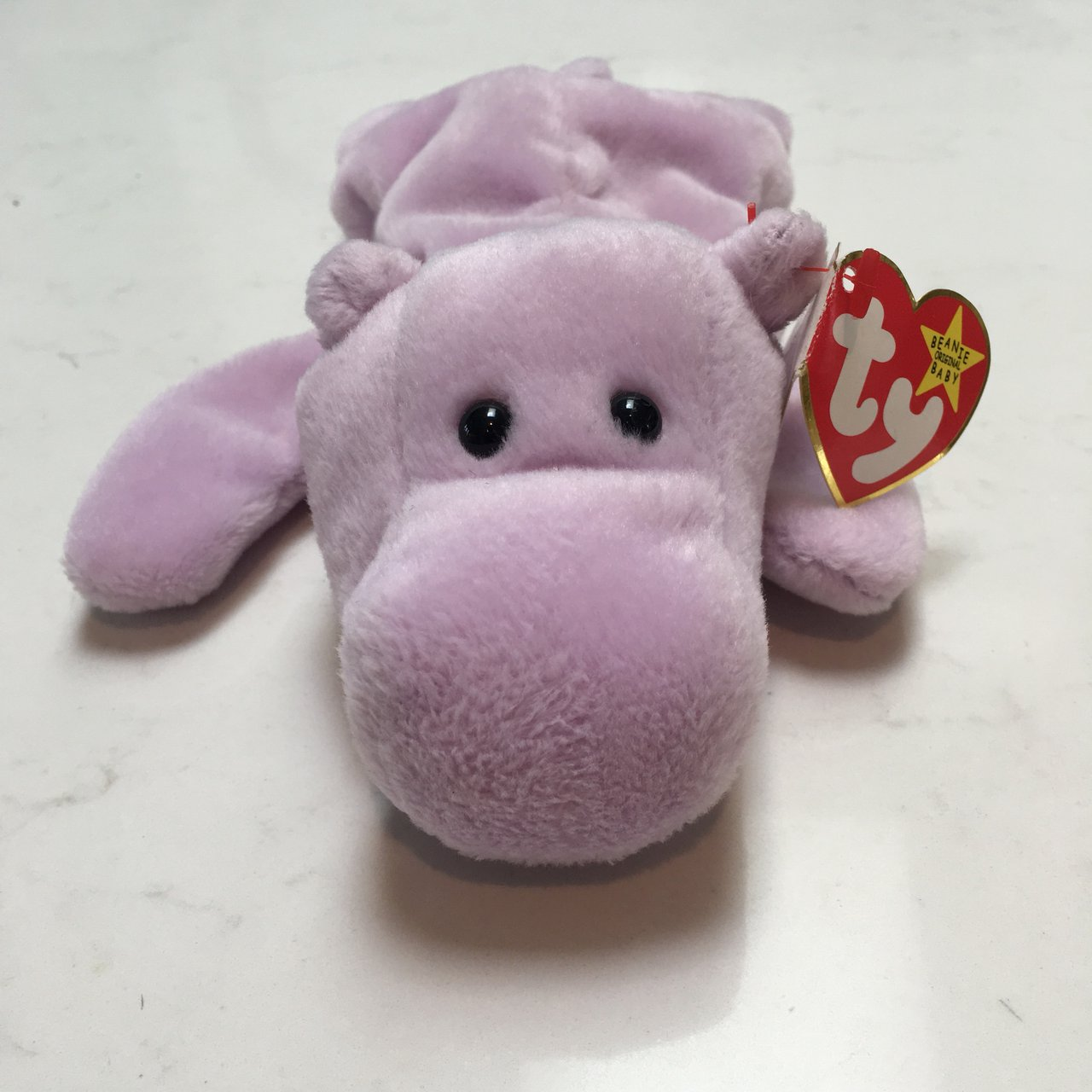 Vintage Happy the Hippo Beanie Baby by TY Throwback toy to a - Depop c5c00540a6e