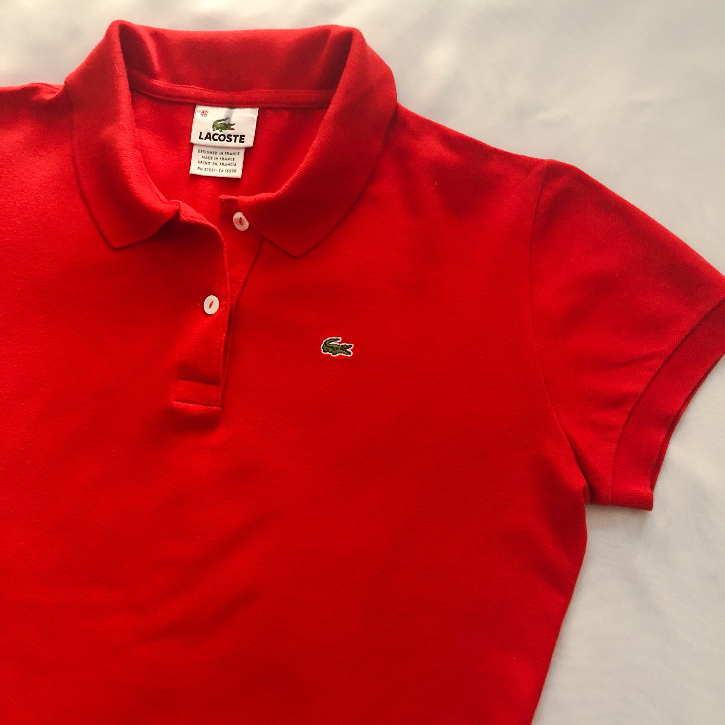 Imperial PoloColor Classic Pique RedDepop Lacoste Fit PvymNO8nw0