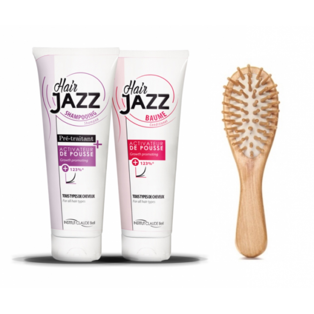 Hair Jazz Shampoo And Conditioner With Wooden Brush Depop