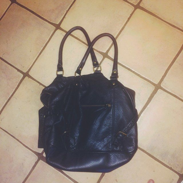 f55ab2c842 Urban Outfitters Deena & Ozzy black leather tote bag. Soft, - Depop