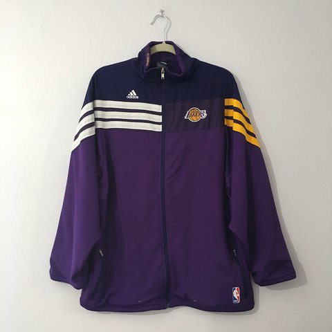 bcef35aaa84 @whatsthe444. 5 months ago. Los Angeles, United States. Adidas | NBA Los  Angeles Lakers | Warm up jacket