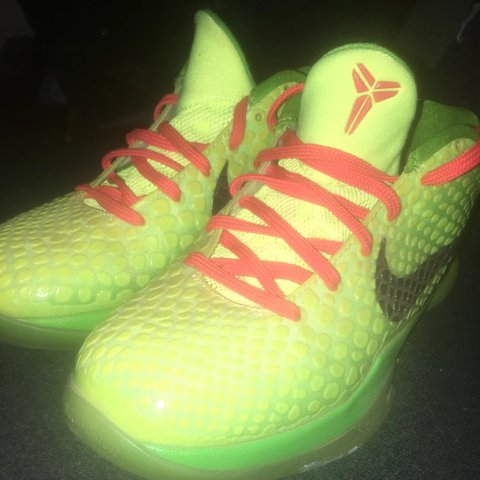 cf2100d458c ... clearance nike zoom kobe 6 grinch size 5.5 used no box depop d577d a9b52