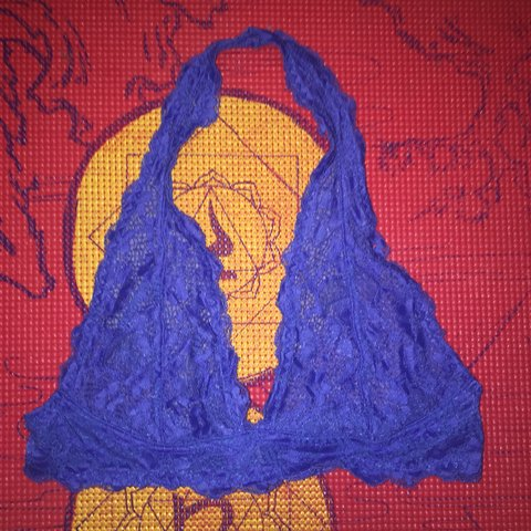 c50018b28cb3c Free People lace bralette in the PRETTIEST royal blue!!! any - Depop