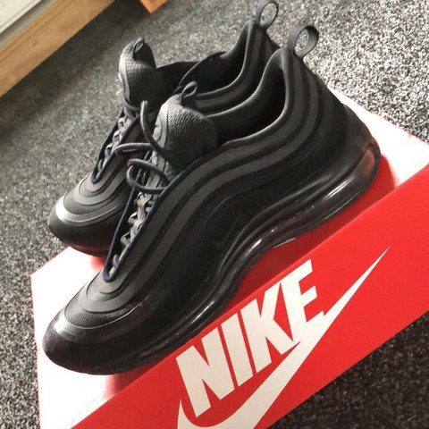 5a2e8cb930b2 Nike AirMax 97s all black in excellent condition 9.5 10 size - Depop