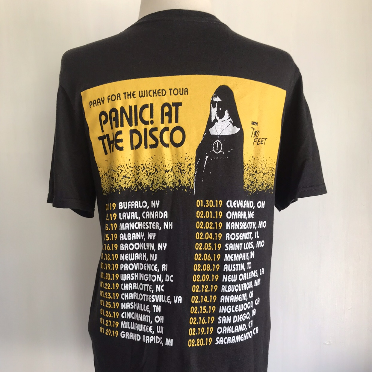 PANIC AT THE DISCO T-Shirt!!! TOUR DATES ON    - Depop