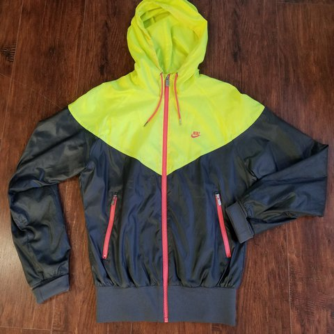 50f73ee89828 Women s Nike windrunner jacket size Medium. Bright yellow a - Depop