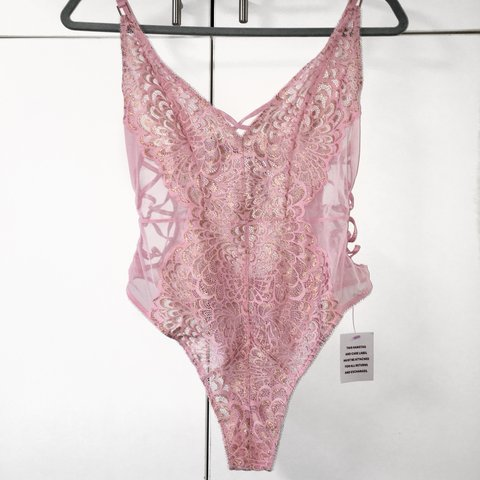 d6bfdc53417d5 Savage X Fenty Metallic lace teddy bodysuit Reserved for the - Depop