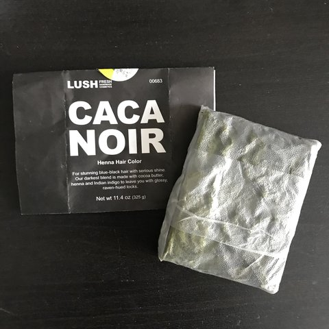 Lush Caca Noir Natural Henna Hair Dye Used Exactly Half Of A Depop